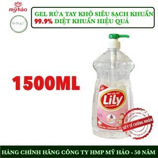 Nước rửa tay khô diệt khuẩn Mỹ Hảo 1.5 lít - Mỹ Hảo phòng chống dịch bệnh - Sạch tay diệt 99.9% vi khuẩn