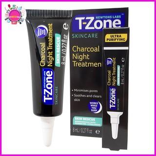 Gel T-ZONE Ngăn Ngừa và Giảm Mụn Ban Đêm Than Hoạt Tính Skincare 8ml (đen)