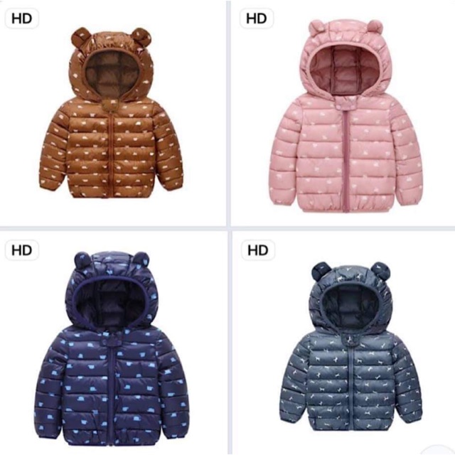 Áo phao tai gấu cho bé