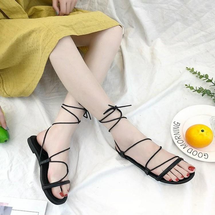 Dép sandal thắt dây Hottrend siêu xinh