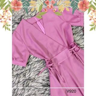HÀNG CHUẨN váy hồng V920- fullsize