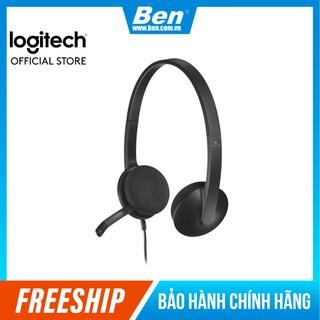 Tai nghe chụp tai LOGITECH H340(1 giắc USB)-Có míc khử tiếng ồn - Tai nghe có dây Logitech BH 12T