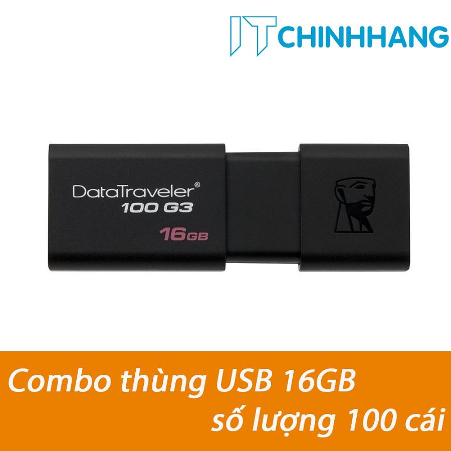 COMBO THÙNG USB KINGSTON 16GB 100G3 (100c) - HÃNG PHÂN PHỐI CHÍNH THỨC