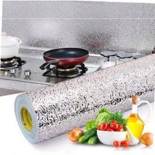 (Giá sỉ) Giấy bạc dán bếp cách nhiệt, giấy dán tường nhà chống thấm dán tủ gỗ thumbnail