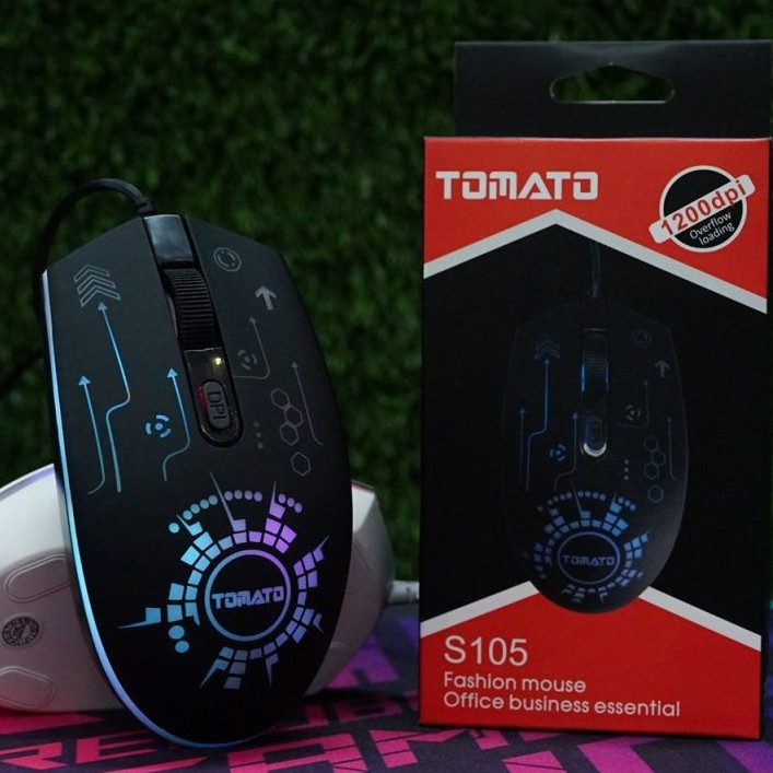 CHUỘT GAMING TOMATO S105 LED RGB ĐEN - Chính hãng HP DIGI TECH
