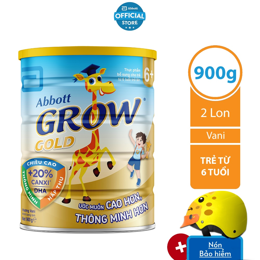 Bộ 02 Lon Sữa bột Abbott Grow 6+ 900g/lon