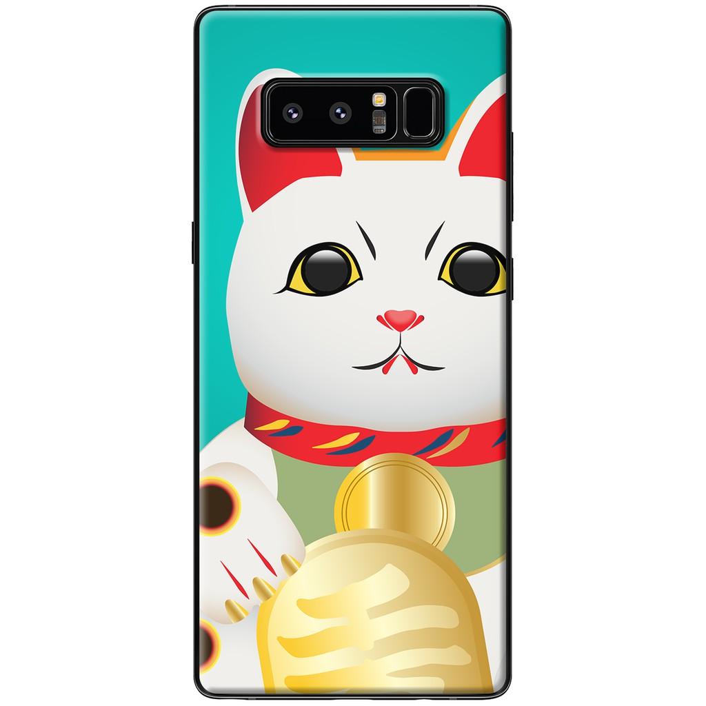 Ốp lưng Samsung Note 8 - Nhựa dẻo Mèo tinh thông quảng đại
