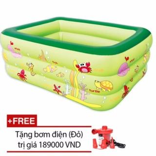 Bể bơi cao cấp 3 tầng cho bé loại 160cmx125cmx55cm + Tặng bơm điện