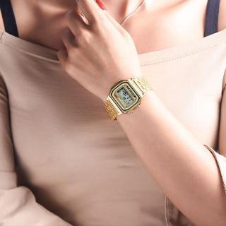 [Lisa]Đồng hồ LED điện tử dây thép không gỉ phong cách Retro cho nam