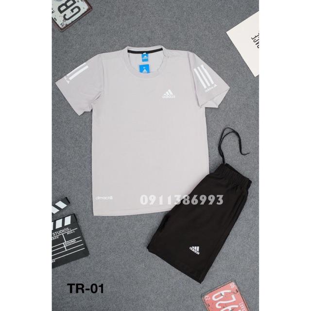 BỘ THỂ THAO NAM TRƠN 3 VIỀN THUN LẠNH - K CỔ 2020