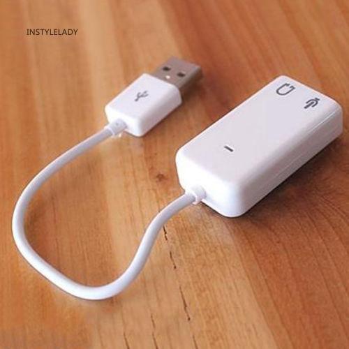 ✌Iy External USB2.0 3D Virtual 7.1 Channel Audio Sound Card for PC Desktop Giá chỉ 39.000₫