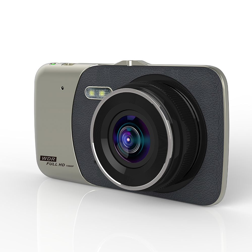 Máy quay hành trình hai ống kính HD 1080P DVR màn hình LCD 3.6 inch cho ô tô