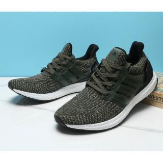Giày thể thao Adidas Ultra Boost chính hãng cho nam quân đội Màu xanh lá cây cỡ 40-45