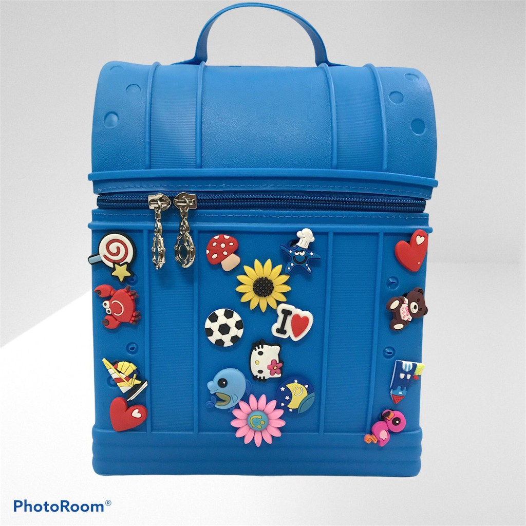 Balo siêu nhẹ Cross chống gù cho bé + Tặng kèm Sticker – Màu xanh dương mạnh mẽ
