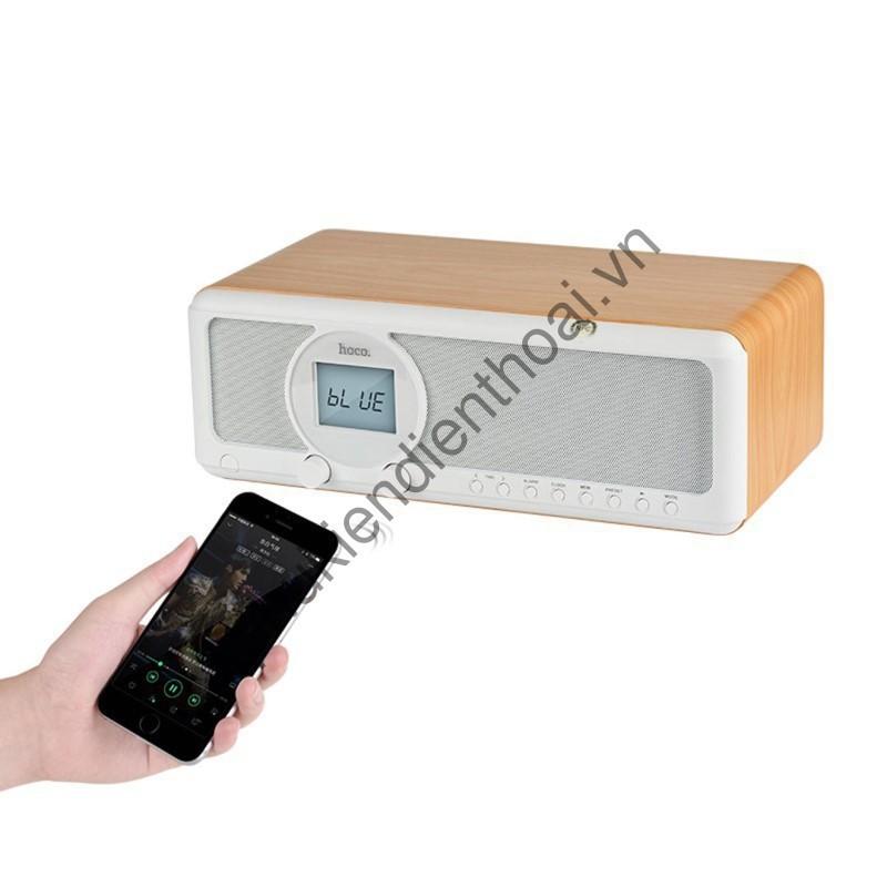 [chất] Loa Bluetooth Earl Wooden Tabletop Hoco BS12 - Loa Bluetooth Chính Hãng Hoco
