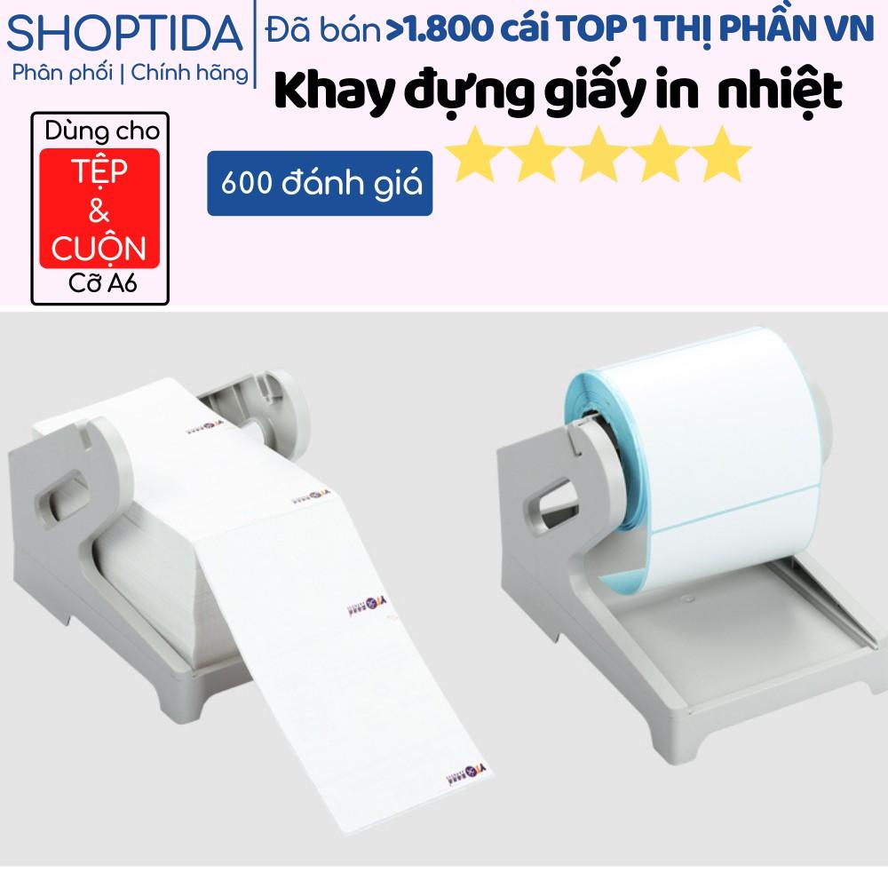 Khay đựng giấy máy in nhiệt TMĐT Shoptida HPRT N41, giá đỡ, kệ để, treo cuộn và tệp