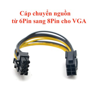 Cáp chuyển nguồn từ 6 Pin sang 8 Pin cho VGA