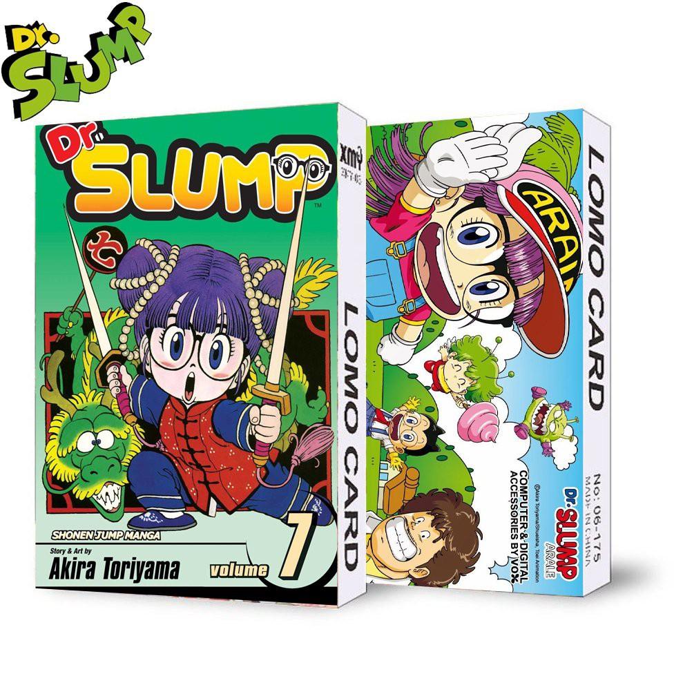 ( không kèm hộp ) Hộp ảnh lomo in hình DR.SLUMP TIẾN SĨ SLUMP anime chibi 30 tấm
