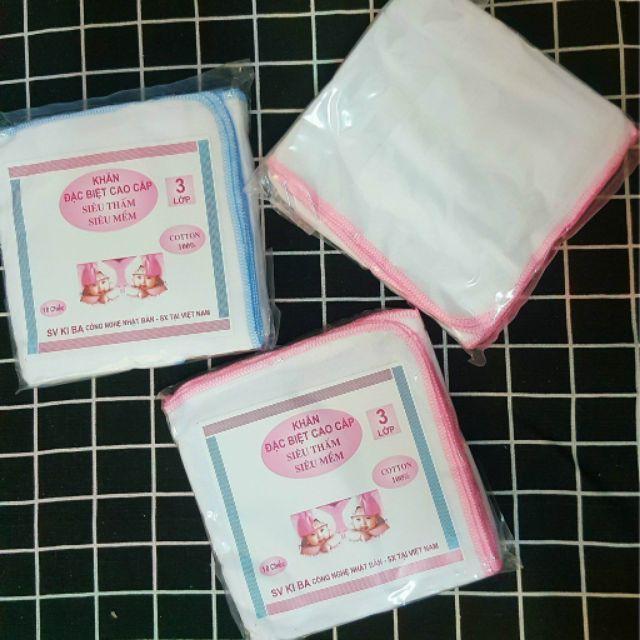 [⚡️ Sale ⚡️]|  khăn sữa đa năng cho bé - Khăn sữa ki ba 3 lớp | Tại Hà Nội