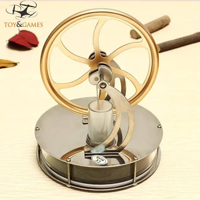 Boy Mental Low Temperature Difference Stirling Engine DIY Toy Gift Decor Collection
