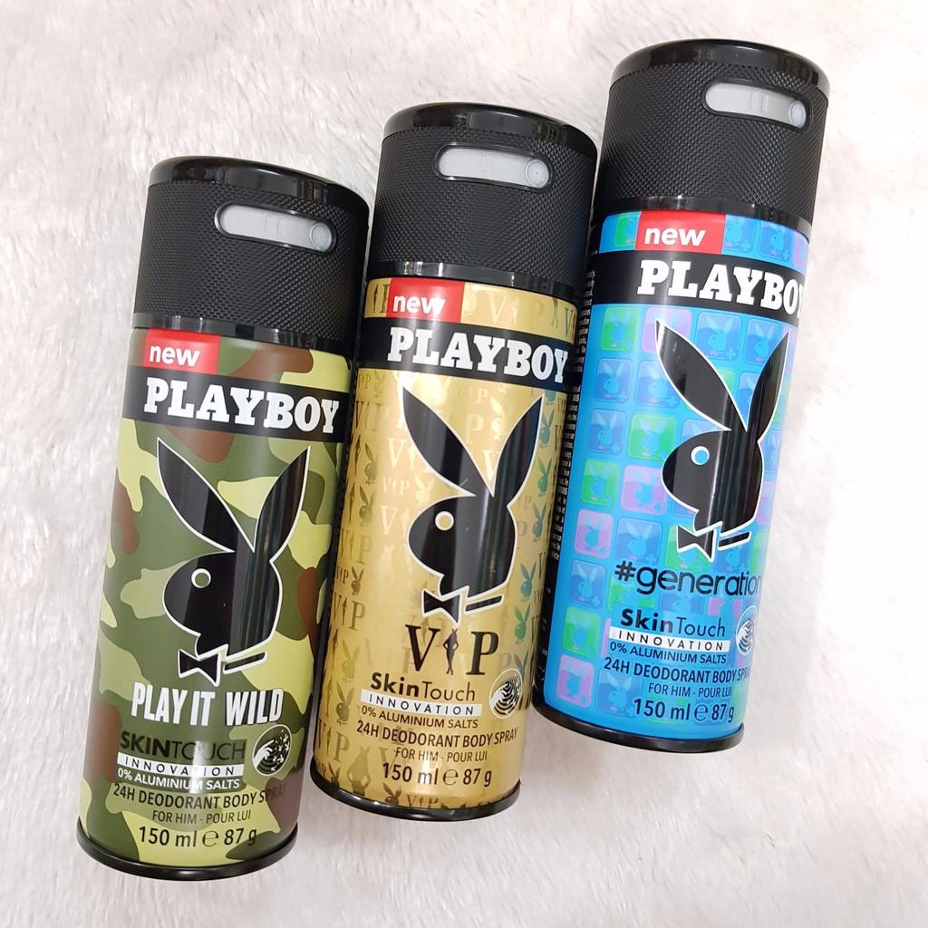 Chai Xịt Khử Mùi Toàn Thân Nam Playboy Skin Touch - 3210661 , 788200349 , 322_788200349 , 110000 , Chai-Xit-Khu-Mui-Toan-Than-Nam-Playboy-Skin-Touch-322_788200349 , shopee.vn , Chai Xịt Khử Mùi Toàn Thân Nam Playboy Skin Touch