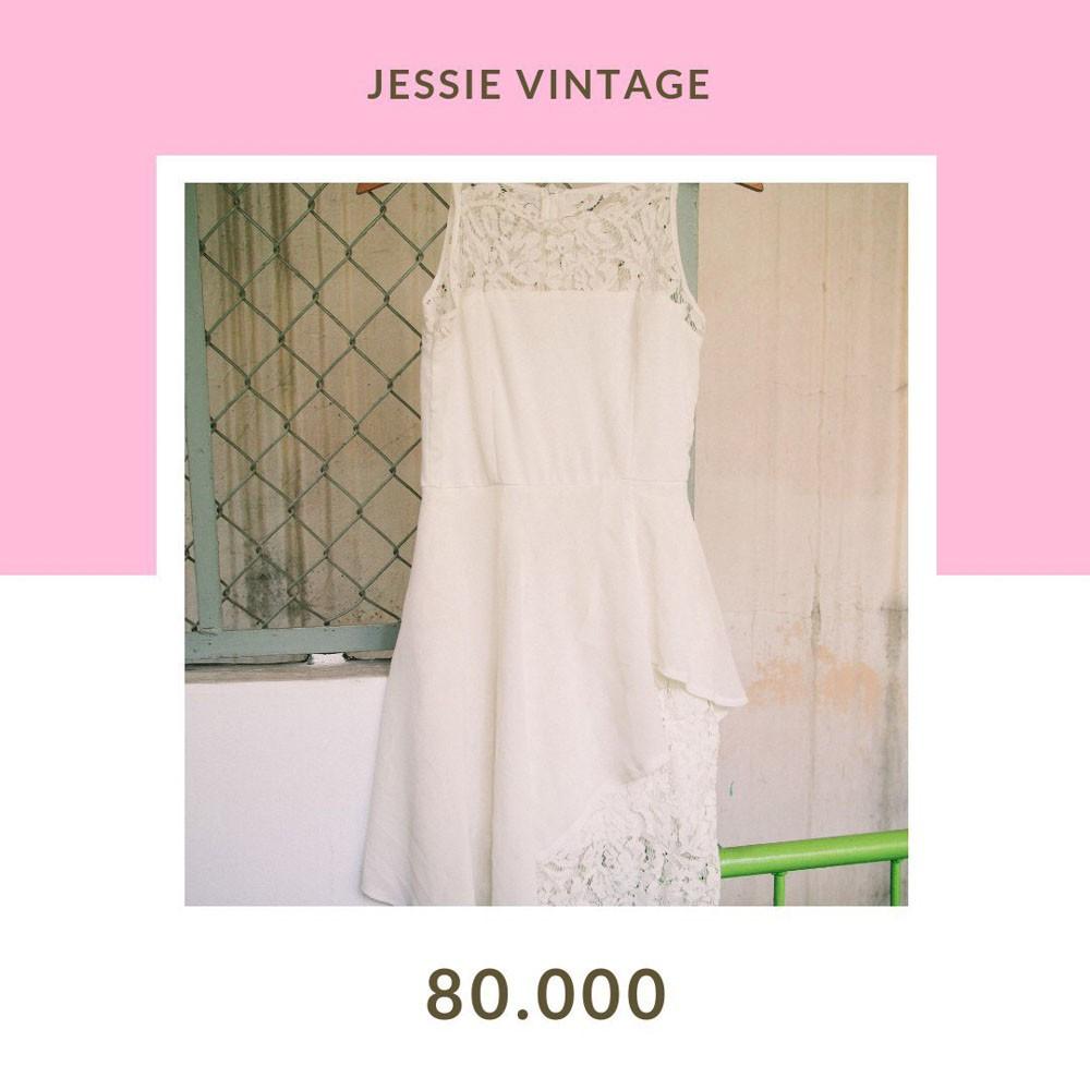 Đầm secondhand vintage - Ren trắng