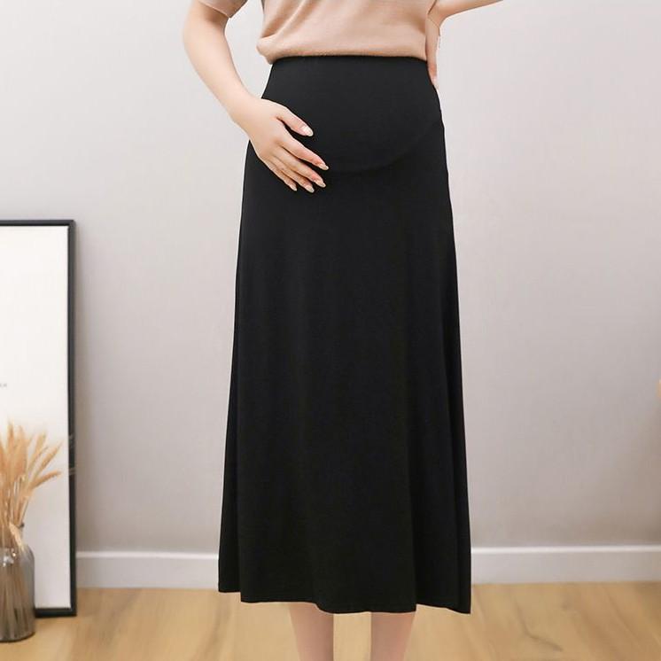 Chân Váy Chữ A Lưng Cao Thời Trang Cho Mẹ Bầu