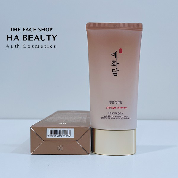 [AUTH] Kem Chống Nắng Ngăn Ngừa Lão Hóa YEHWADAM WRINKLE CARE SUN CREAM SPF50+ PA++++ 50ml The Face Shop