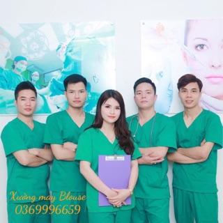 Bộ quần áo phẫu thuật xanh nam nữ – bộ đồng phục phẫu thuật bác sĩ, thẩm mỹ viện, spa