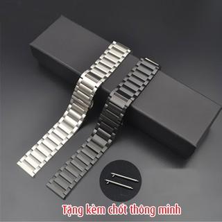 Dây đồng hồ inox kèm chốt thông minh, dây đồng hồ smart watch D1808