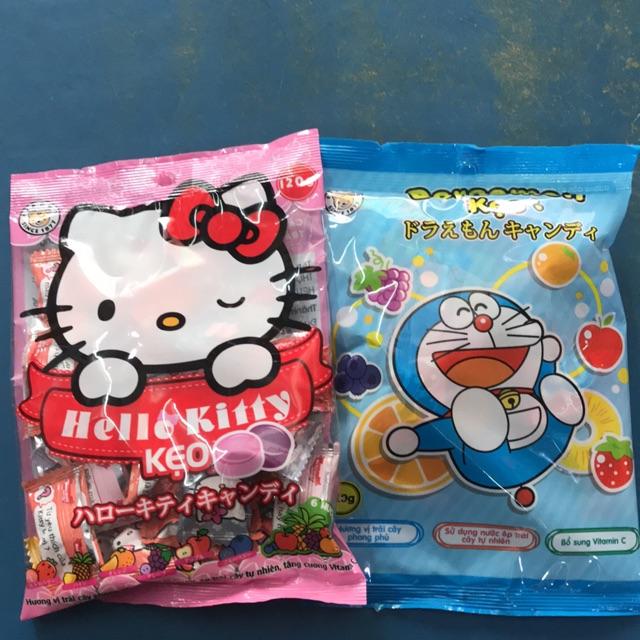 Combo 2 Kẹo trái cây Đoremon và Hello Kitty