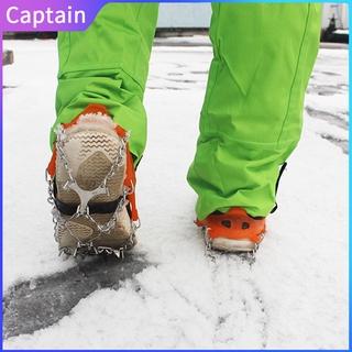 Outdoor Non-Slip Crampons 12 Teeth Men Portable Climbing Boot Set Snow Climbing Boot Ice Catch At8605 Captain outdoor