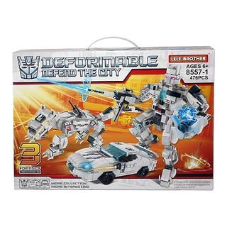 Bộ lắp ráp Robot Transformers thế hệ mới Lele Brother 8557-1