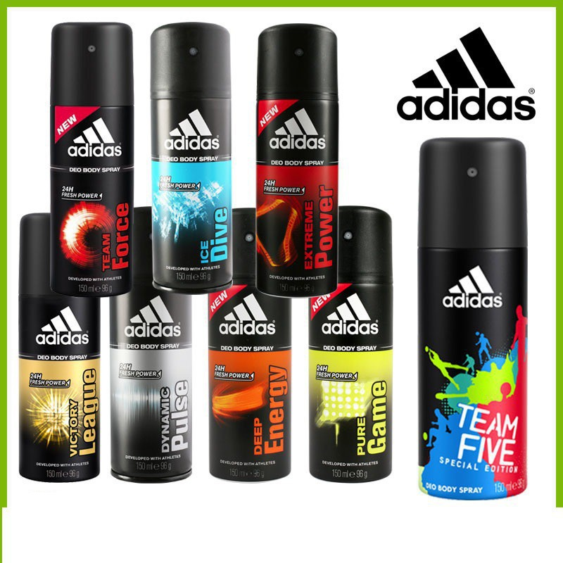 Combo Nước hoa - Xịt khử mùi Adidas 100ml