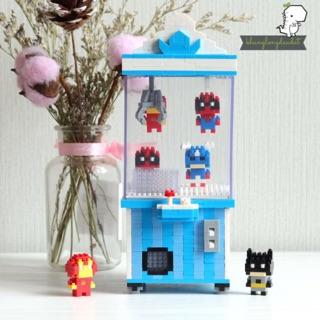 [Có Sẵn] Mini Block – Mô Hình Lắp Ghép – Lego Mini Máy Gắp Thú Hero Size Bự