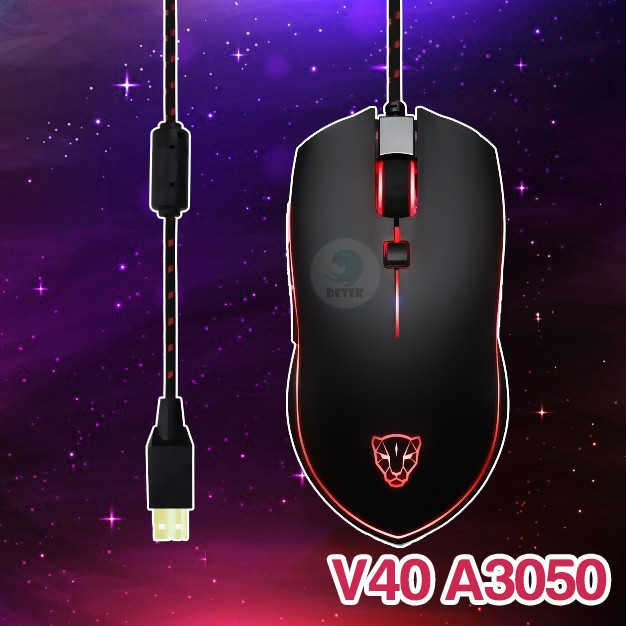 Chuột game thủ Motospeed V40 RBG (A3050) Optical Gaming Mouse LED