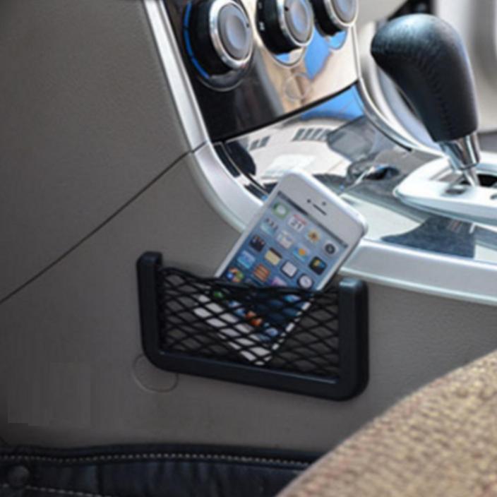 Bộ 2 ngăn lưới để điện thoại tiện ích trên ô tô 15x8cm Home and Garden