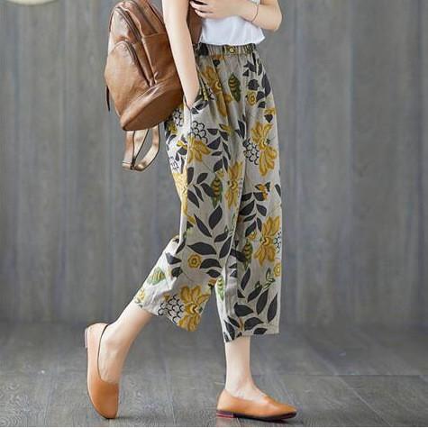 [ MẪU MỚI HÀNG ĐẸP ĐÃ VỀ ] Quần đũi nữ baggy - Chất đũi chuẩn mềm mát - Họa tiết đẹp - Style Hàn quốc - SIÊU HÓT