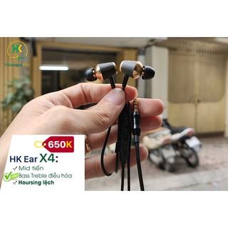 Tai nghe thủ công HK Ear X4 - Nhấn Mid (Có mic)