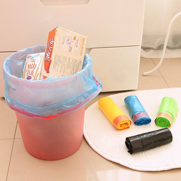 Túi Đựng Rác Tự Phân Huỷ Có Dây Rút - 15 túi/cuộn - Tiện Dụng Sạch Sẽ