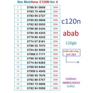 Sim Mobifone C120N 120GB số đẹp 4.