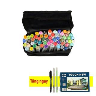 touchnew 6 – 60 màu [ tặng kèm bút line trắng, line đen và sổ vẽ A5 ]