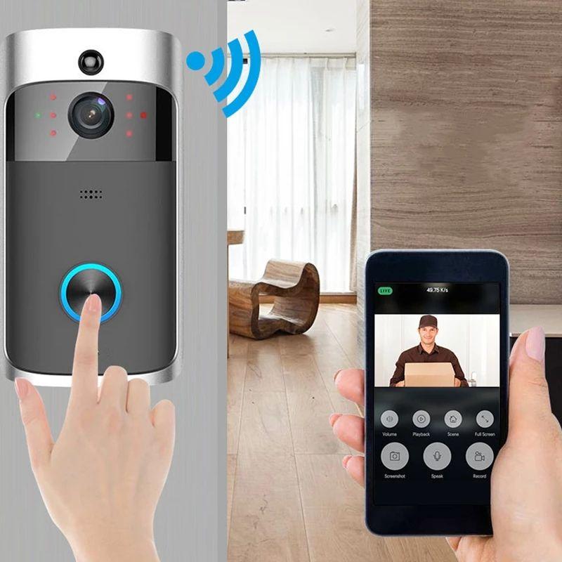 Camera chuông cửa thông minh V5 Không Dây WiFi