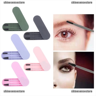 {shinesensestore}Reusable Silicone Eyelash & Eyebrow Brush Recycling For Cleaning Makeup