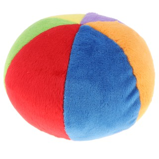 Bubble Shop61 Newborns Plush Bell Cloth Ball Kids Baby Hand Grab Soft Rattle Cloth Toy