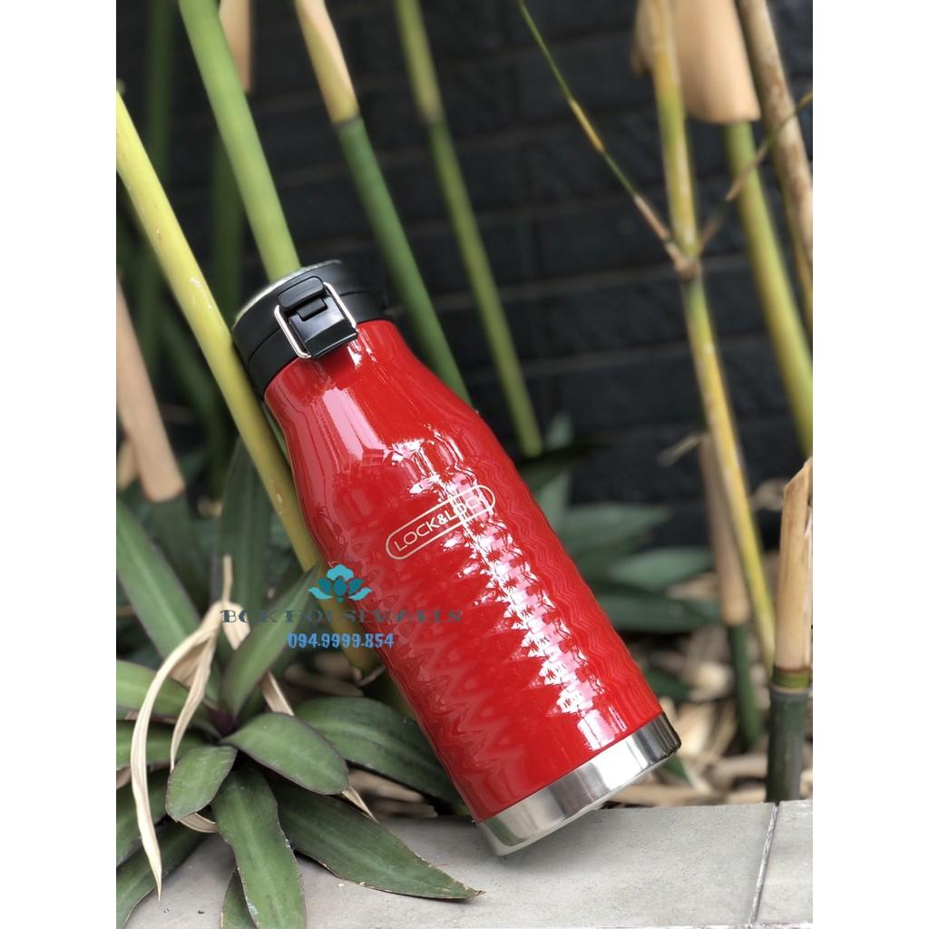 [ LOCK&LOCK ] Bình Giữ Nhiệt Lock&Lock Wave Bottle LHC4150BLK 600ml - Đen, đỏ
