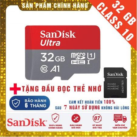 [Miễn phí vận chuyển 50K] Thẻ nhớ cho điện thoại và Camera thương hiệu Sandisk - Bảo hành 6 t
