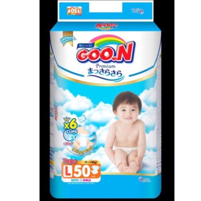 Bỉm Goon Premium quần/ dán M60/M66/L48/L56/XL42/XL50/XXL34/XXXL26