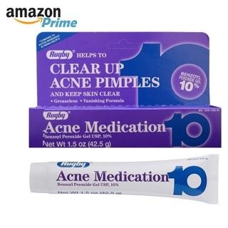 Kem chấm mụn siêu tốc Acne Medication 10 RUGBY- ACNE MEDICATION GEL BENZOYL PEROXIDE 10% thumbnail