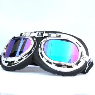 Kính phi công dành cho mũ bảo hiểm 1/2 và 3/4 chống tia UV - bụi - gió và đi phượt
